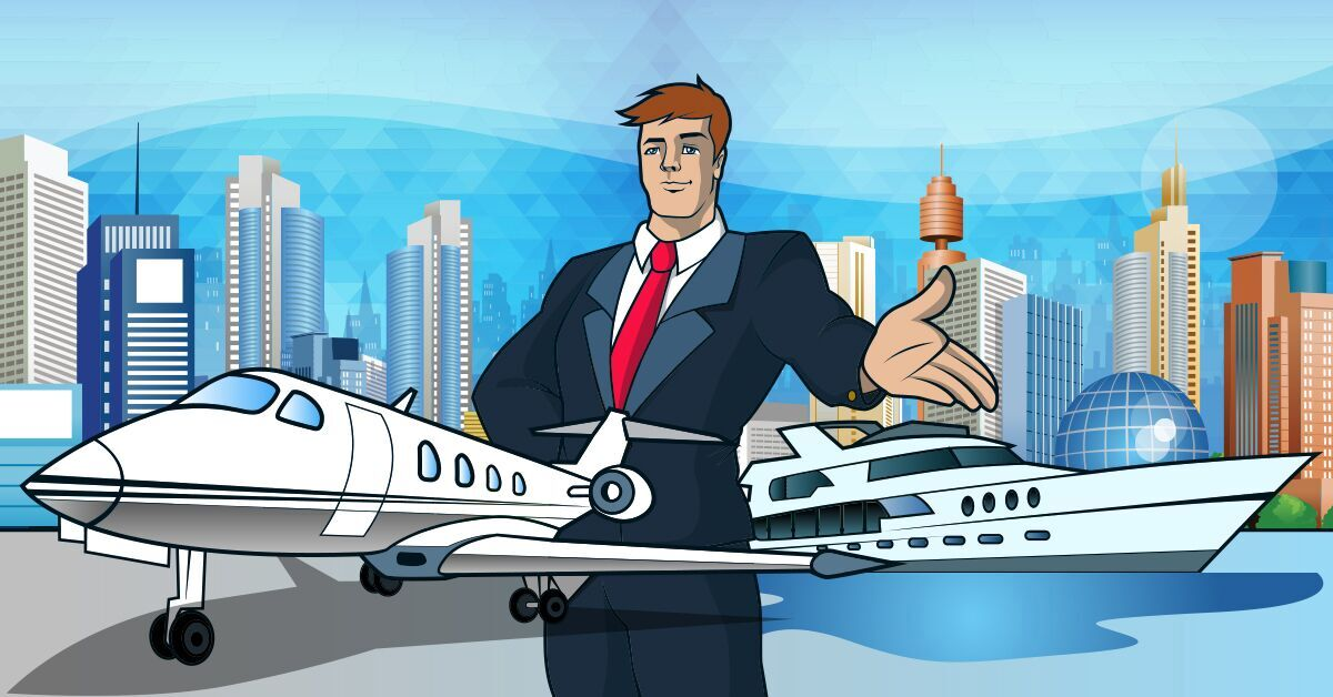featured plane and yachts captaincash