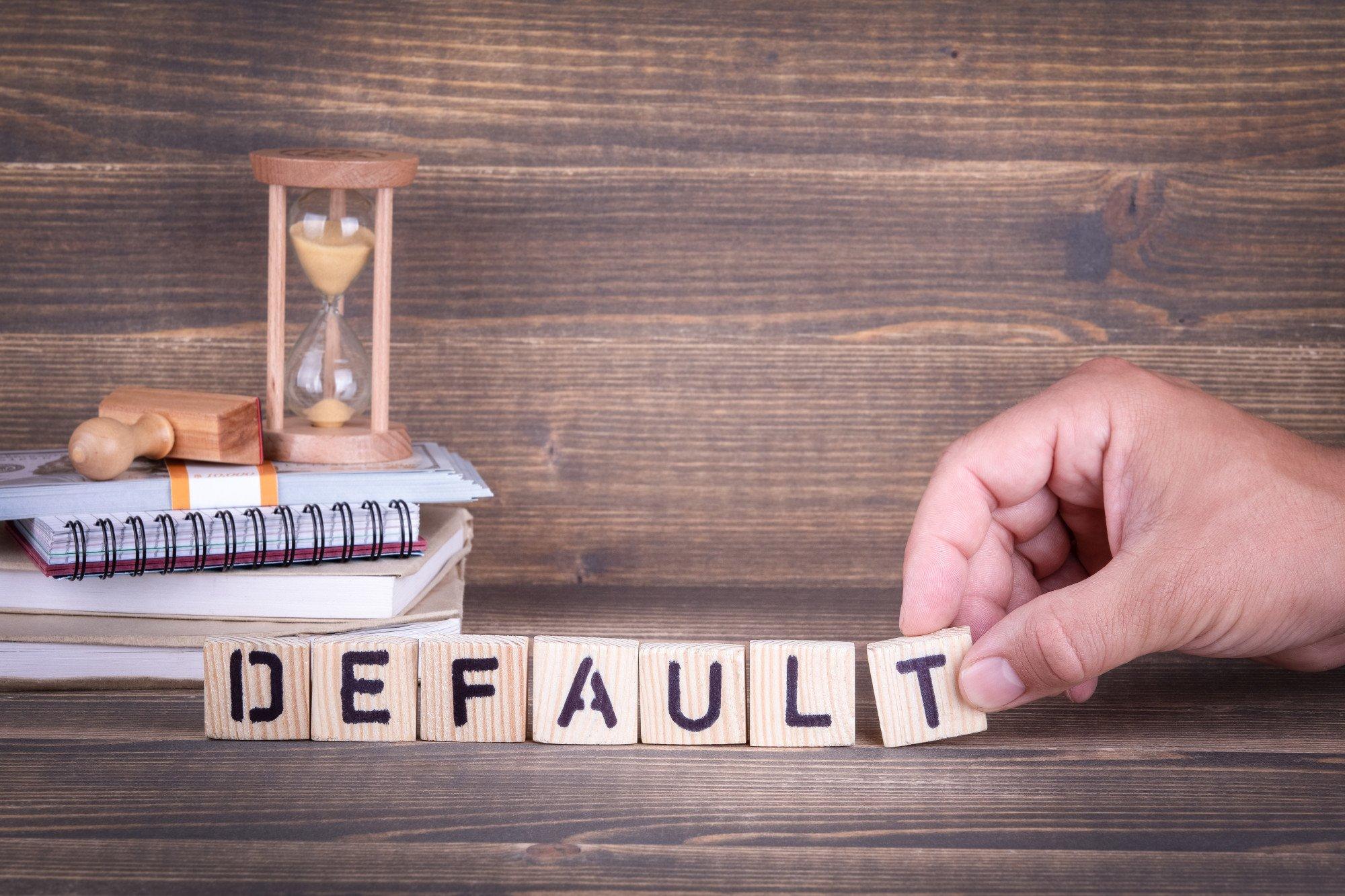 default on a loan