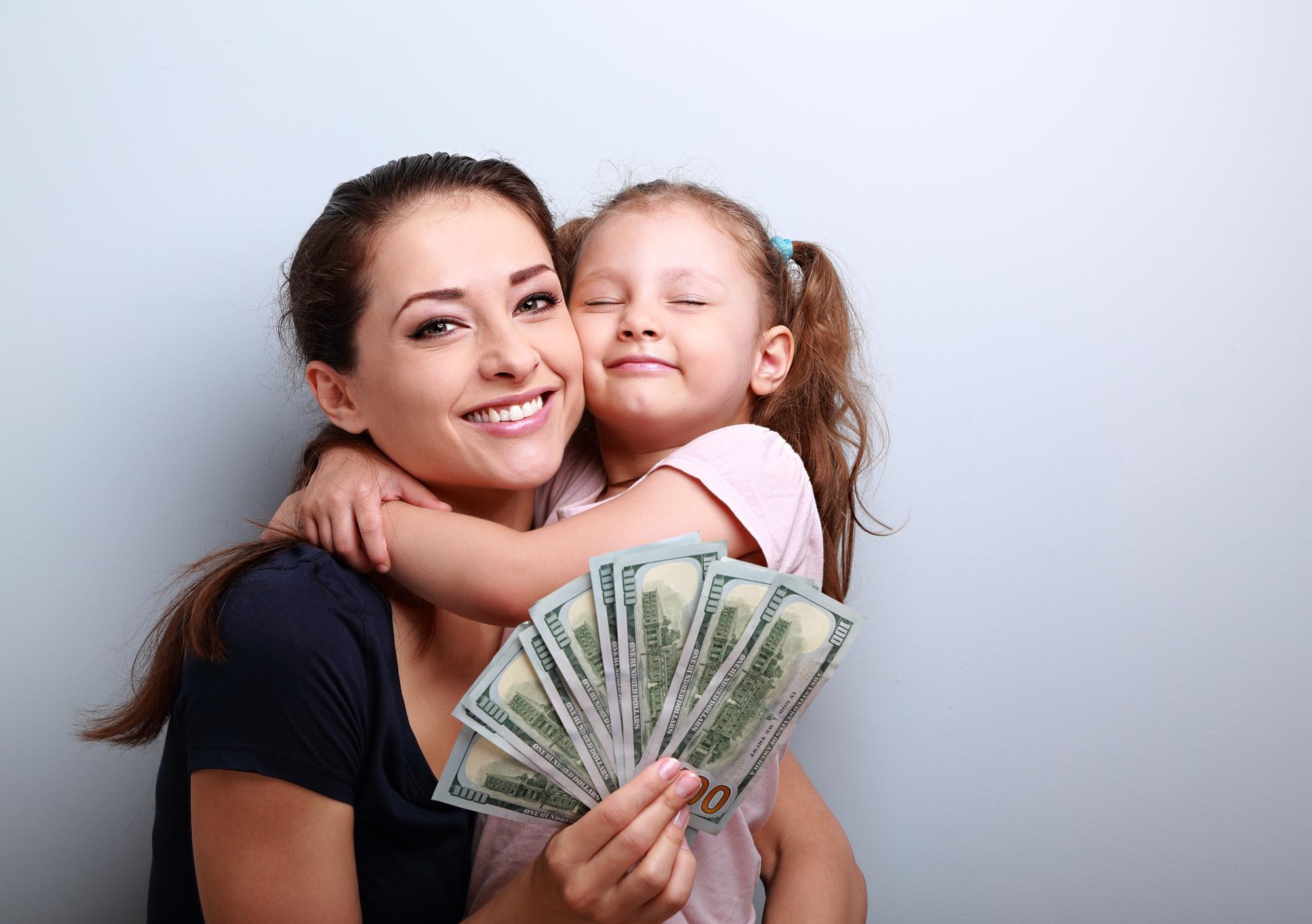 Woman getting a quick cash loan