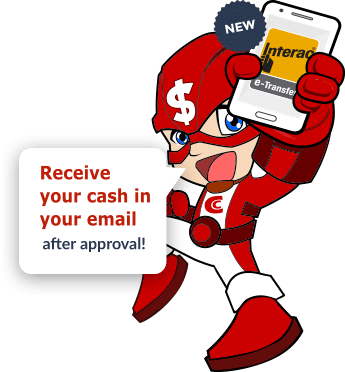 E-transfer payday loan with captain cash application